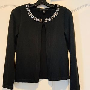 Black sweater with embellishments